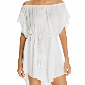 NWT! Echo White Off The Shoulder Cover Up Dress